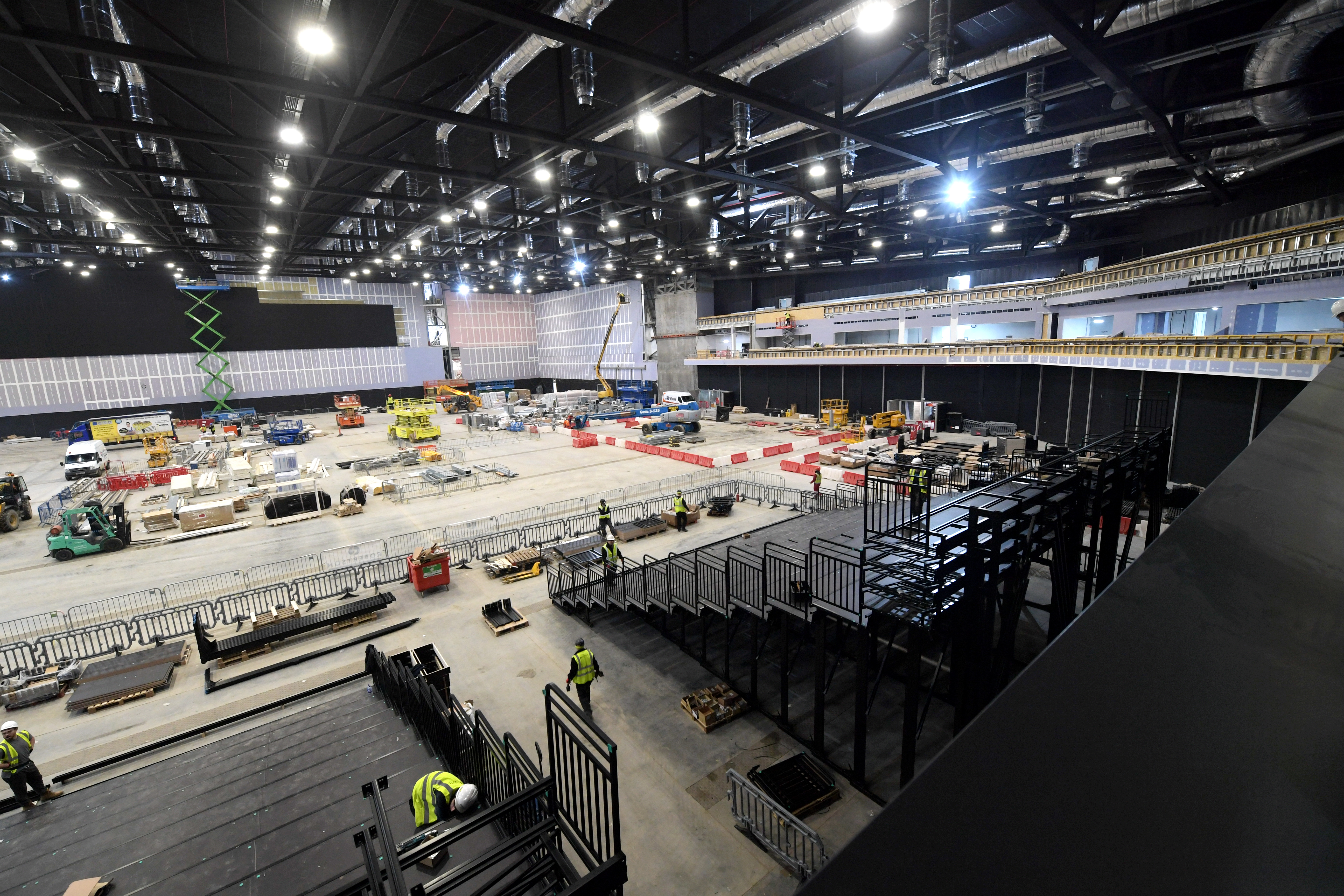 Photos of the media tour around the new AECC/TECA building site.  The main arena looking from one of the VIP suites. 20/02/19 Picture by KATH FLANNERY