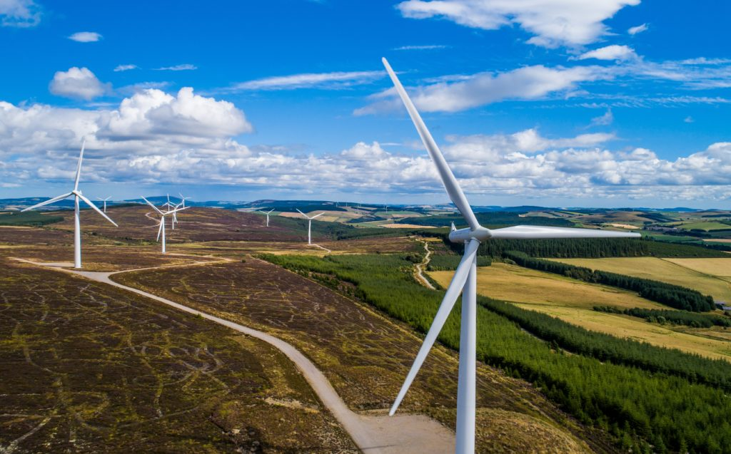 Hill of Towie windfarm in Moray.