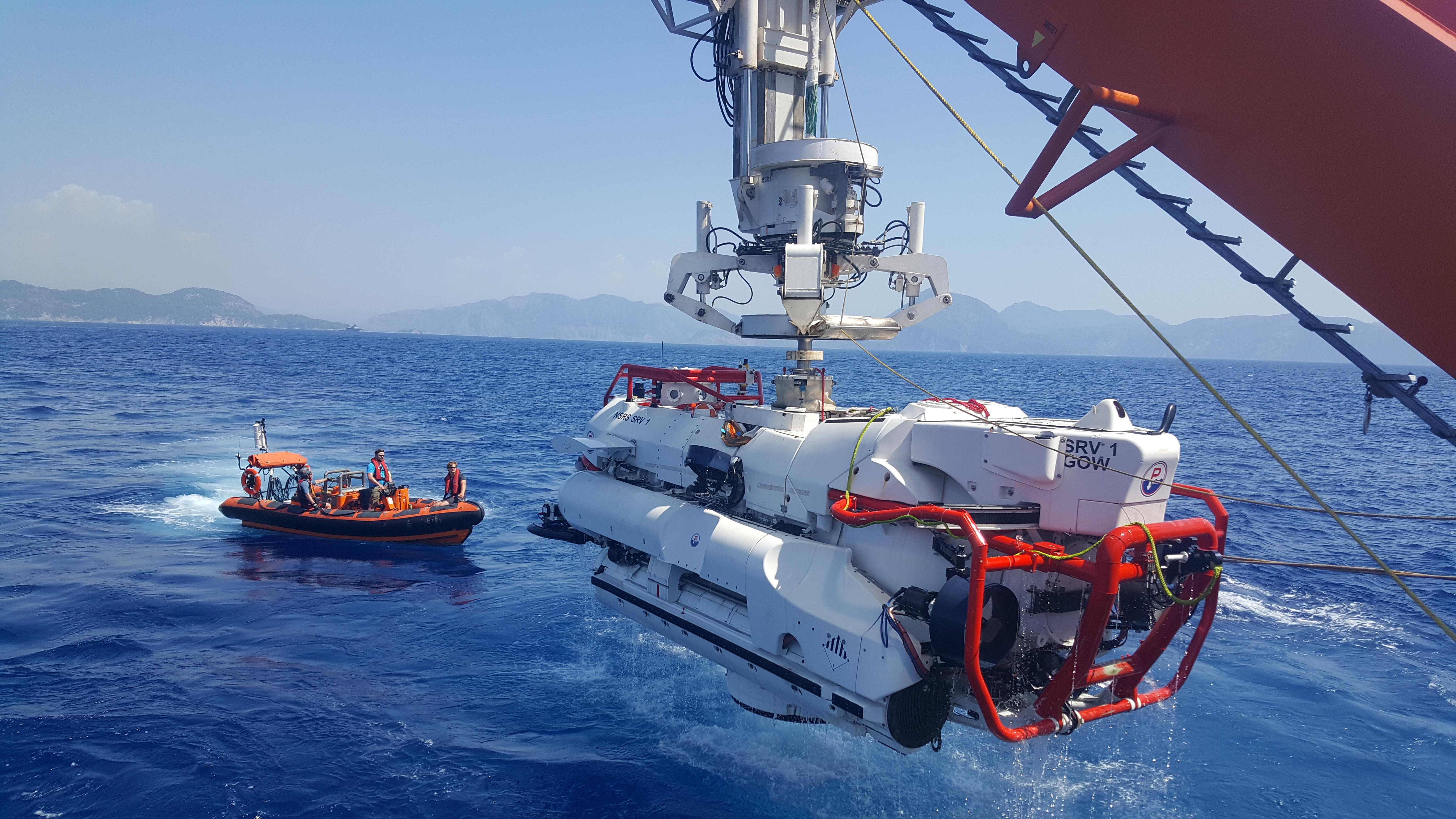 James Fisher and Sons has a number of businesses in the North Sea oil sector. Pictured is a submarine rescue vessel from James Fisher Defence