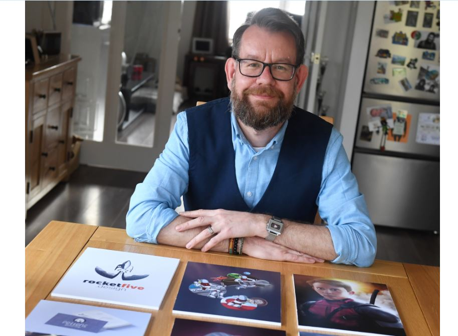 Neil Ruddiforth set up Rocket Five Design after being made redundant from the oil and gas sector