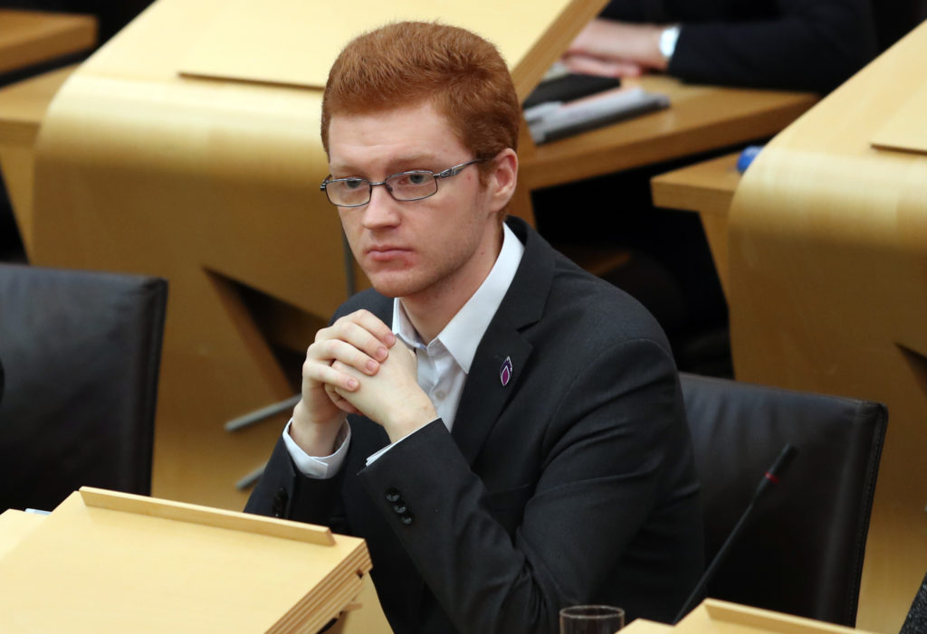 """Opposition: Scottish Green Party MSP Ross Greer said people should not be encouraged to join the """"destructive"""" oil and gas sector. Pic: Jane Barlow/PA Wire"""