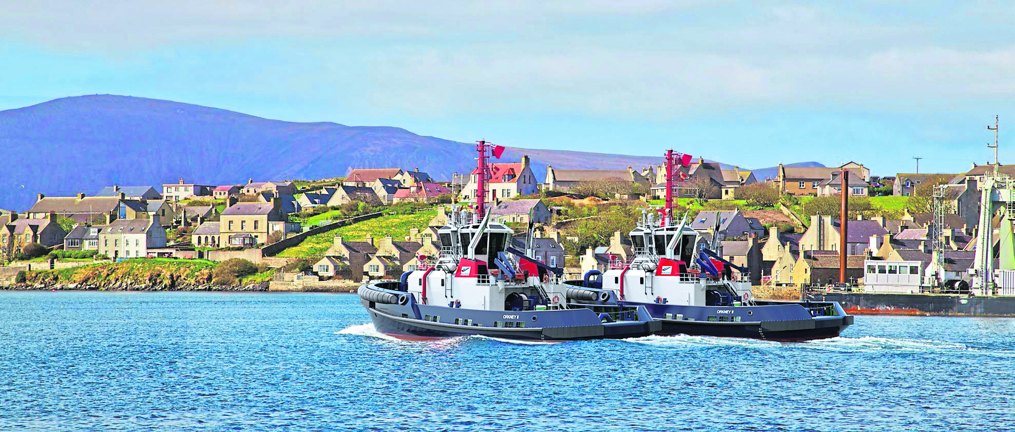A contract has been signed for two new tugs for Orkney Islands Council's Marine Services.    The design and build contract for the 32-metre tugs was secured by Sanmar Shipyards of Turkey.      Construction is due to take place at Sanmar's new specialist tug building facility, all of which is undercover, at Altinova about an hour south of Istanbul.   pic from Orkney Islands Council