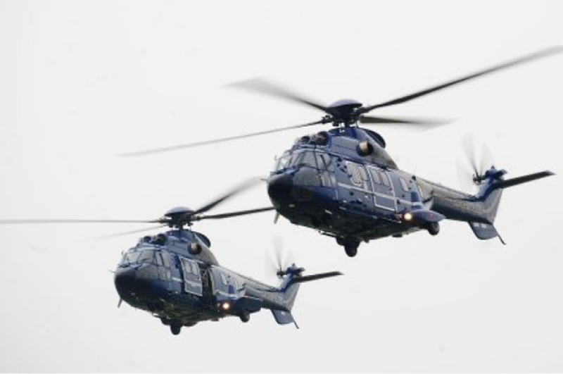 Super Puma helicopters. PIC: RMT