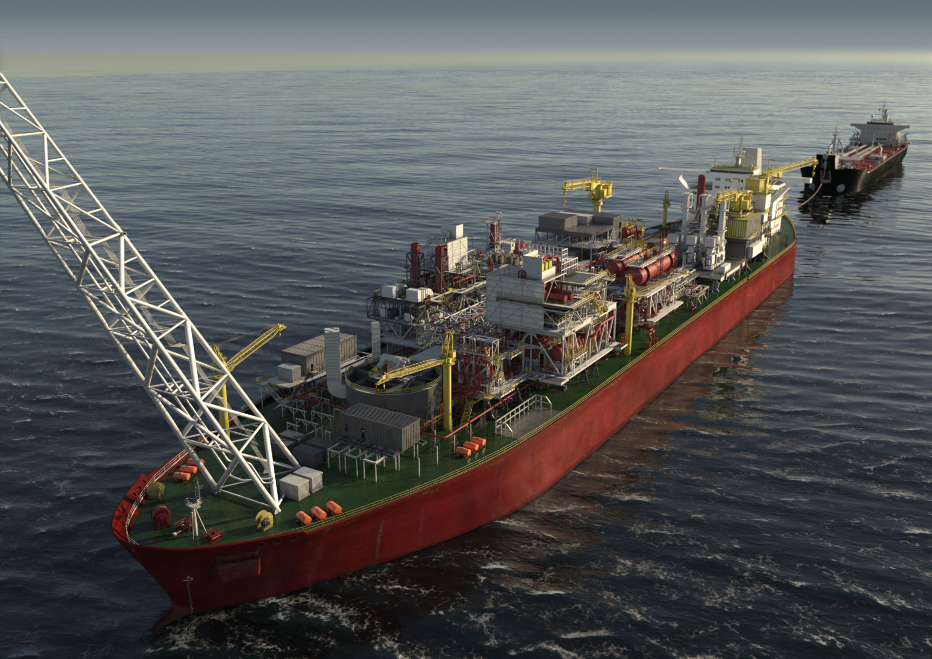 A concept of how the SNE field FPSO will look. Pic from Woodside Energy