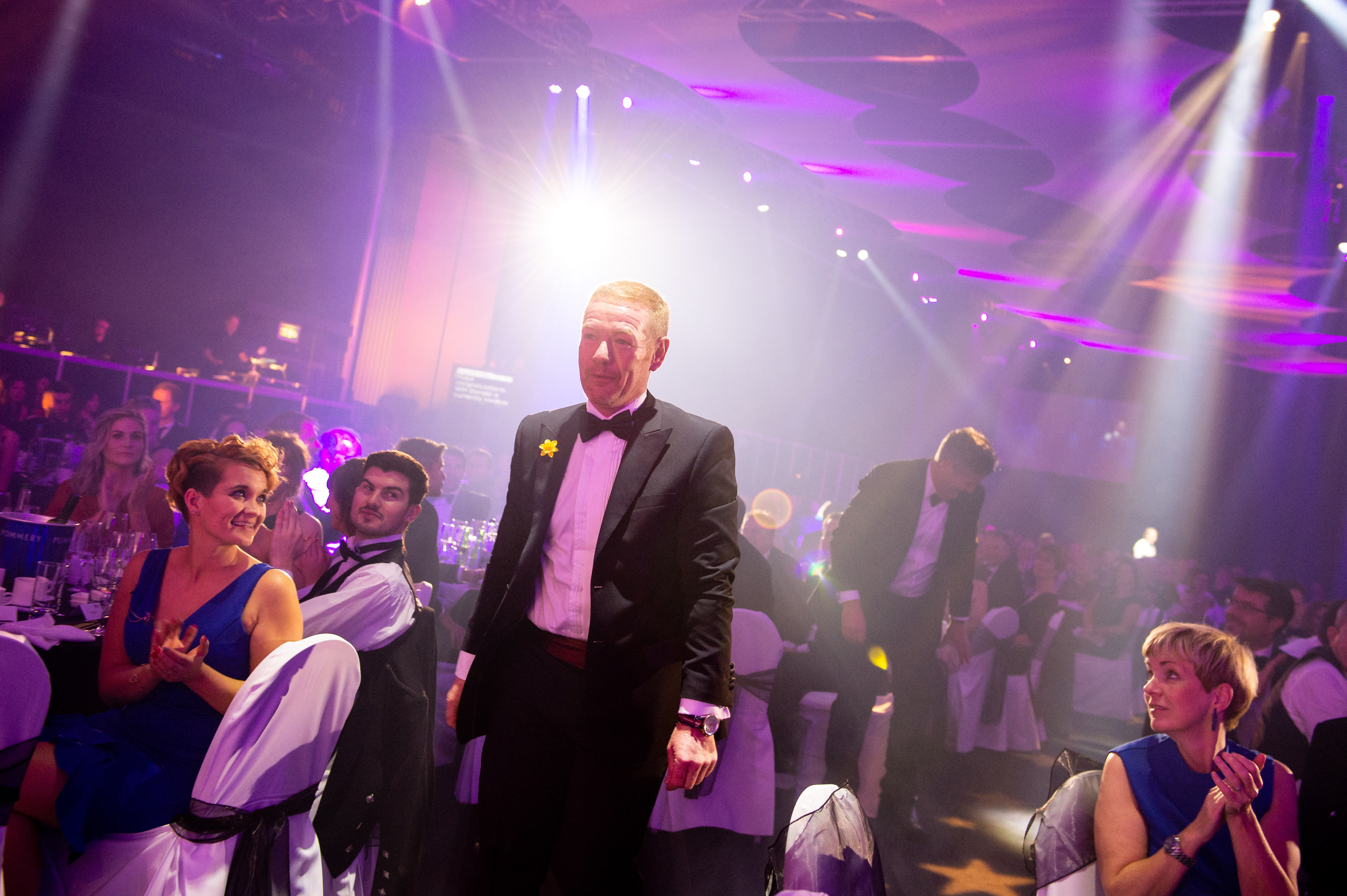 Northern Star Business Awards 2018. Pictured is Operations Manager at W M Donald Limited, Ian Gray approaching the stage to collect the award for Business of the Year.