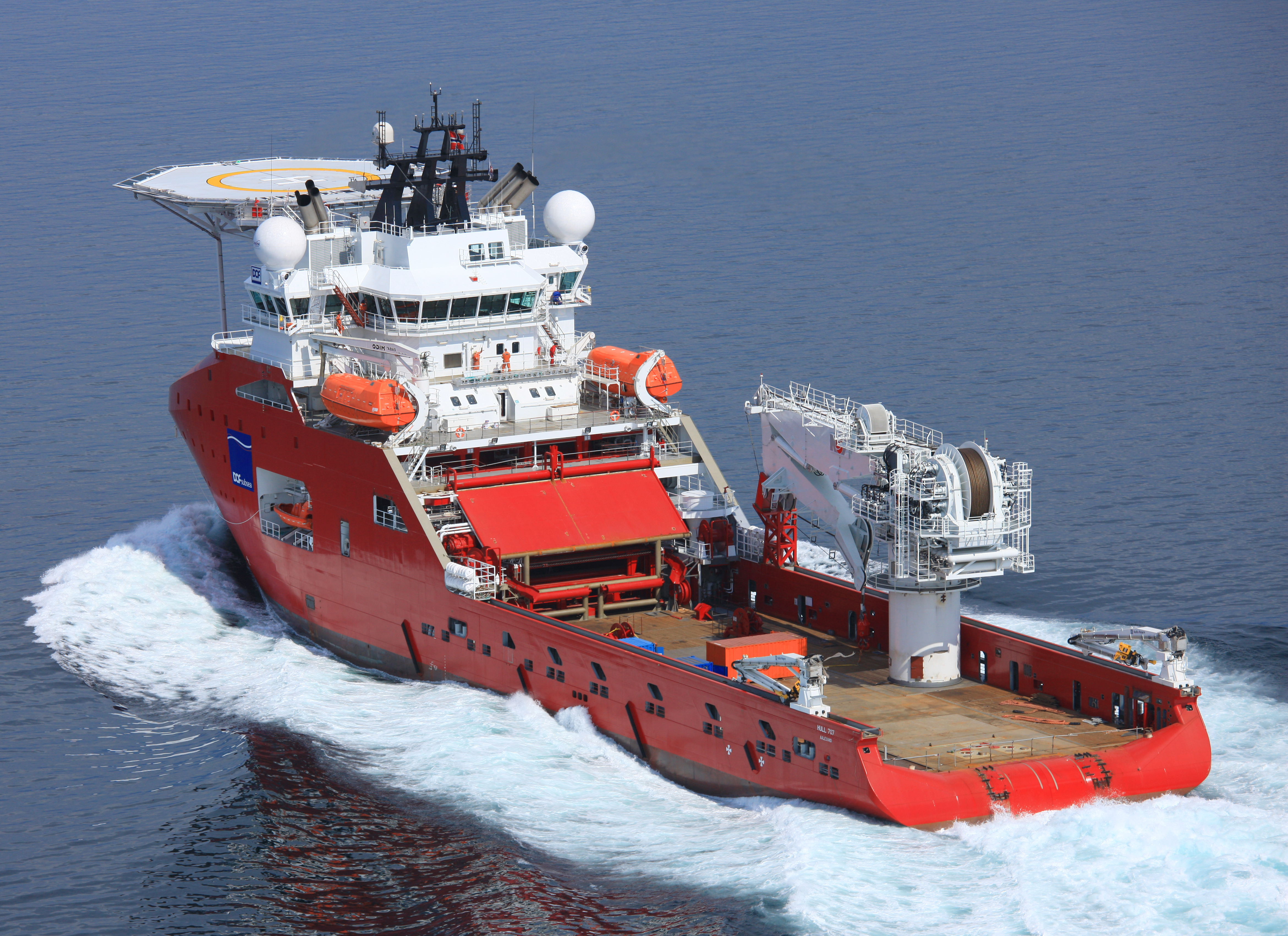 DOF Subsea UK has secured a contract with Hess to provide diver-less Decommissioning services from its new multipurpose support vessel, the Skandi Skansen . Handout pic from the firm.