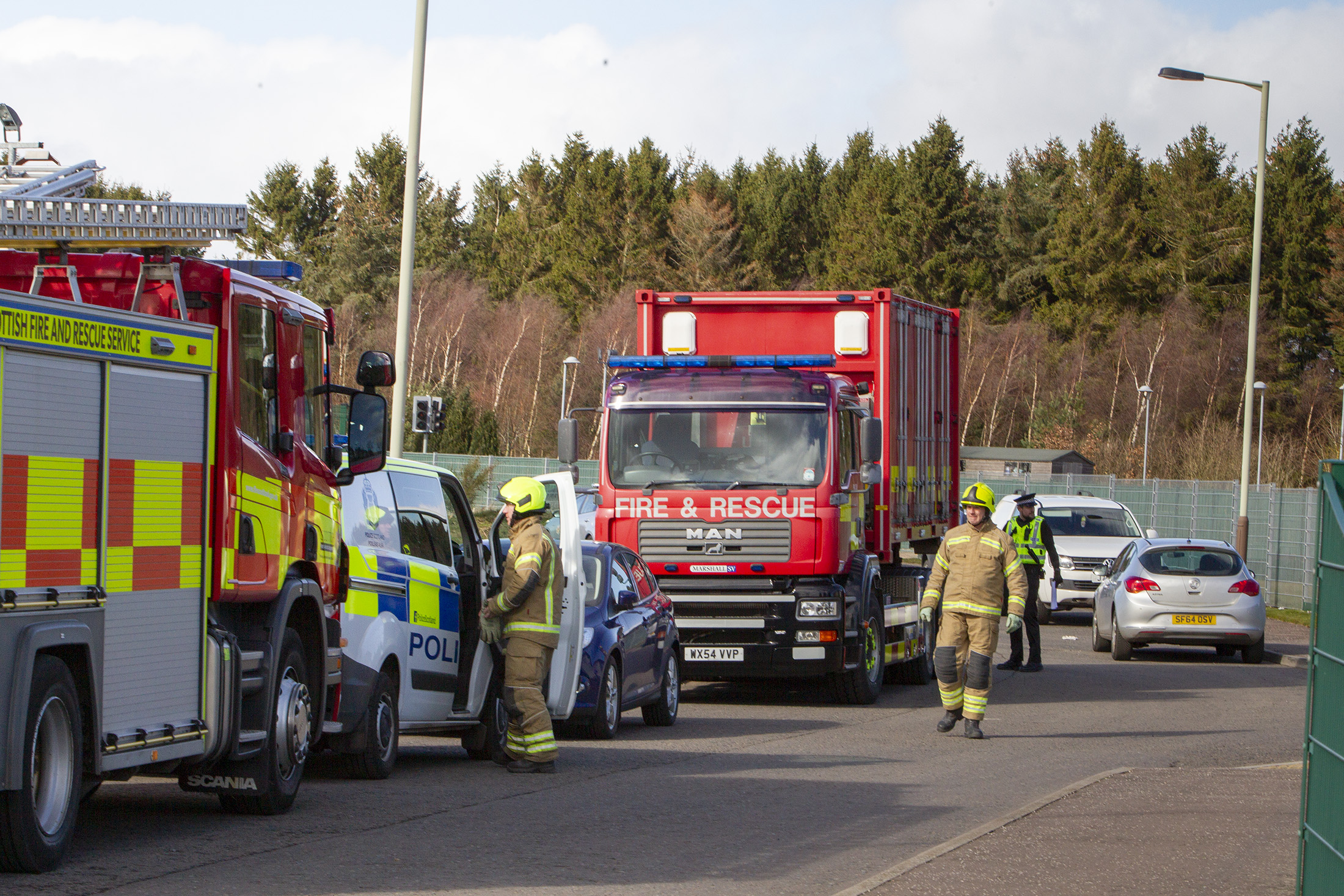 Fatality at oil service depot at Forfar's Orcharbank Industrial Estate  Pic Paul Reid