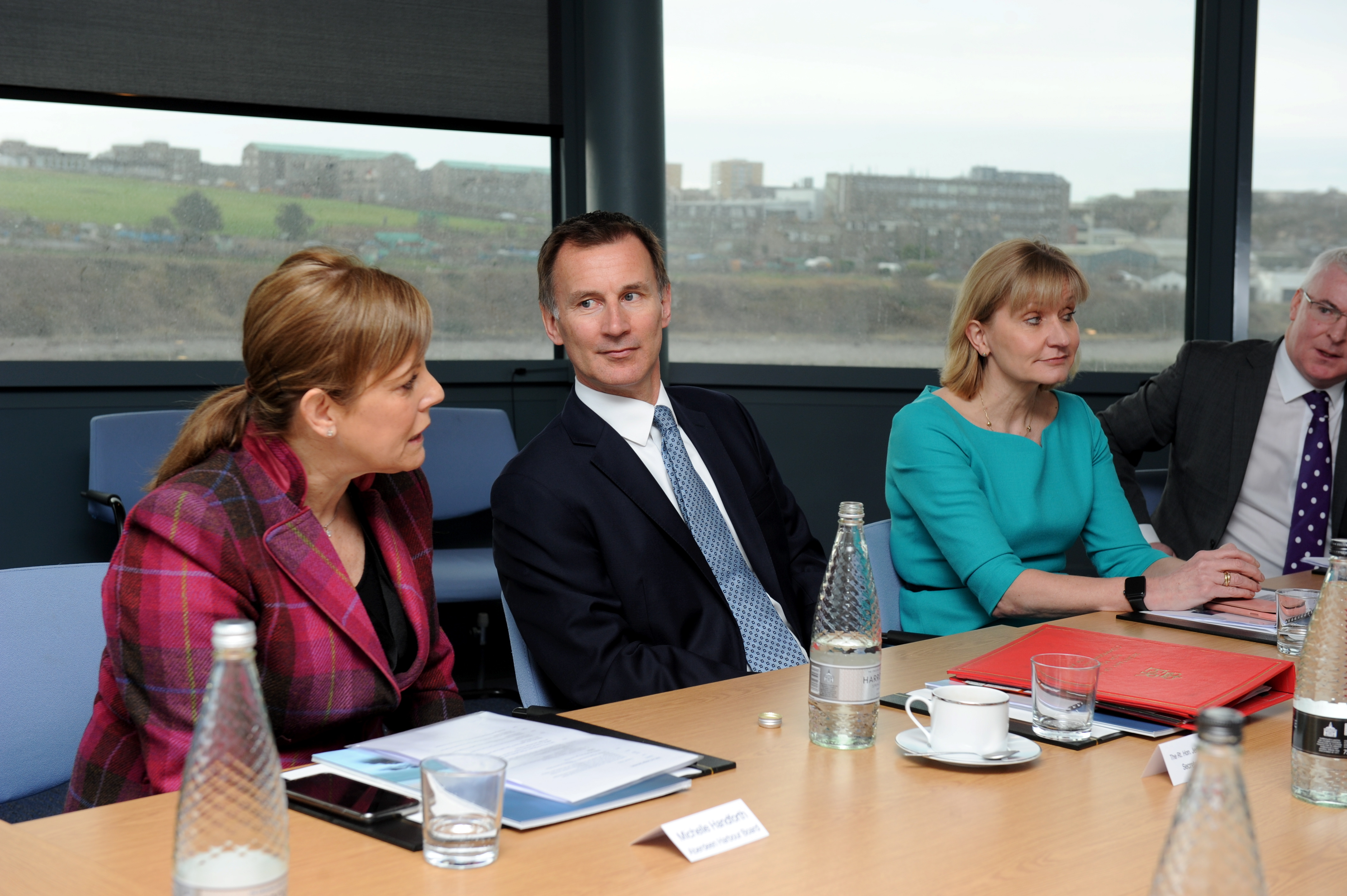 Foreign secretary Jeremy Hunt during a visit to Aberdeen Harbour Marine Operations Centre earlier this year.