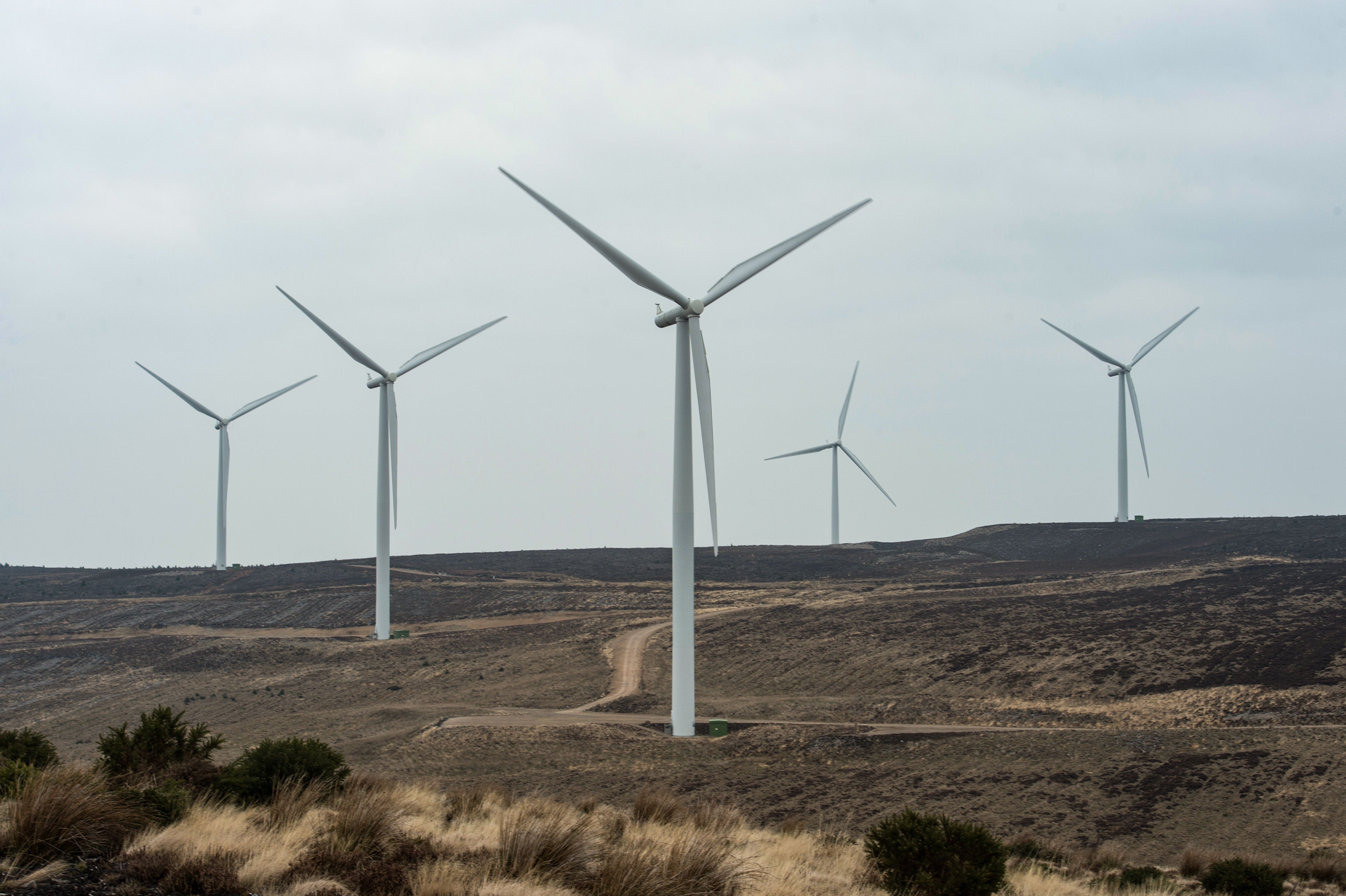 Pictures show Wind Turbines at Rothes Wind Farm, Moray. Pictures by Jason Hedges