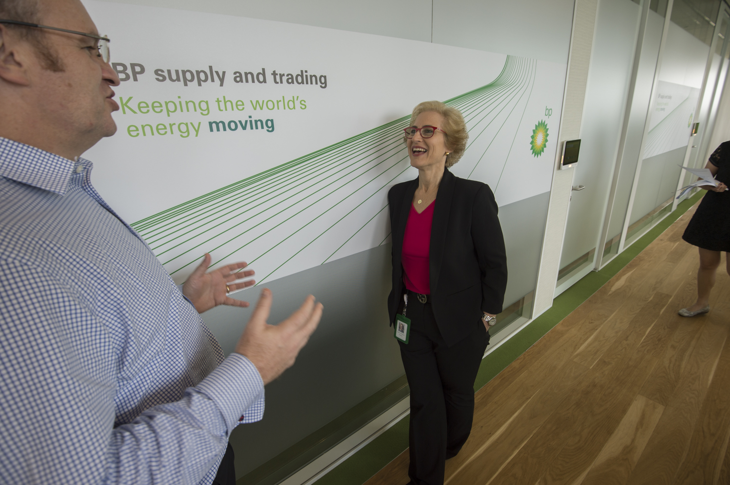 Sharon Weintraub at BP Singapore Offices and Trading Floor.