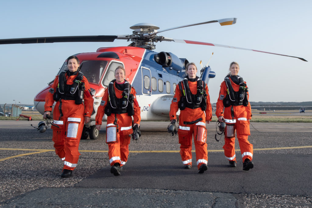Helicopter operator CHC took an all-female group from Equinor, Aker Solutions and OGUK to mark International Women's Day