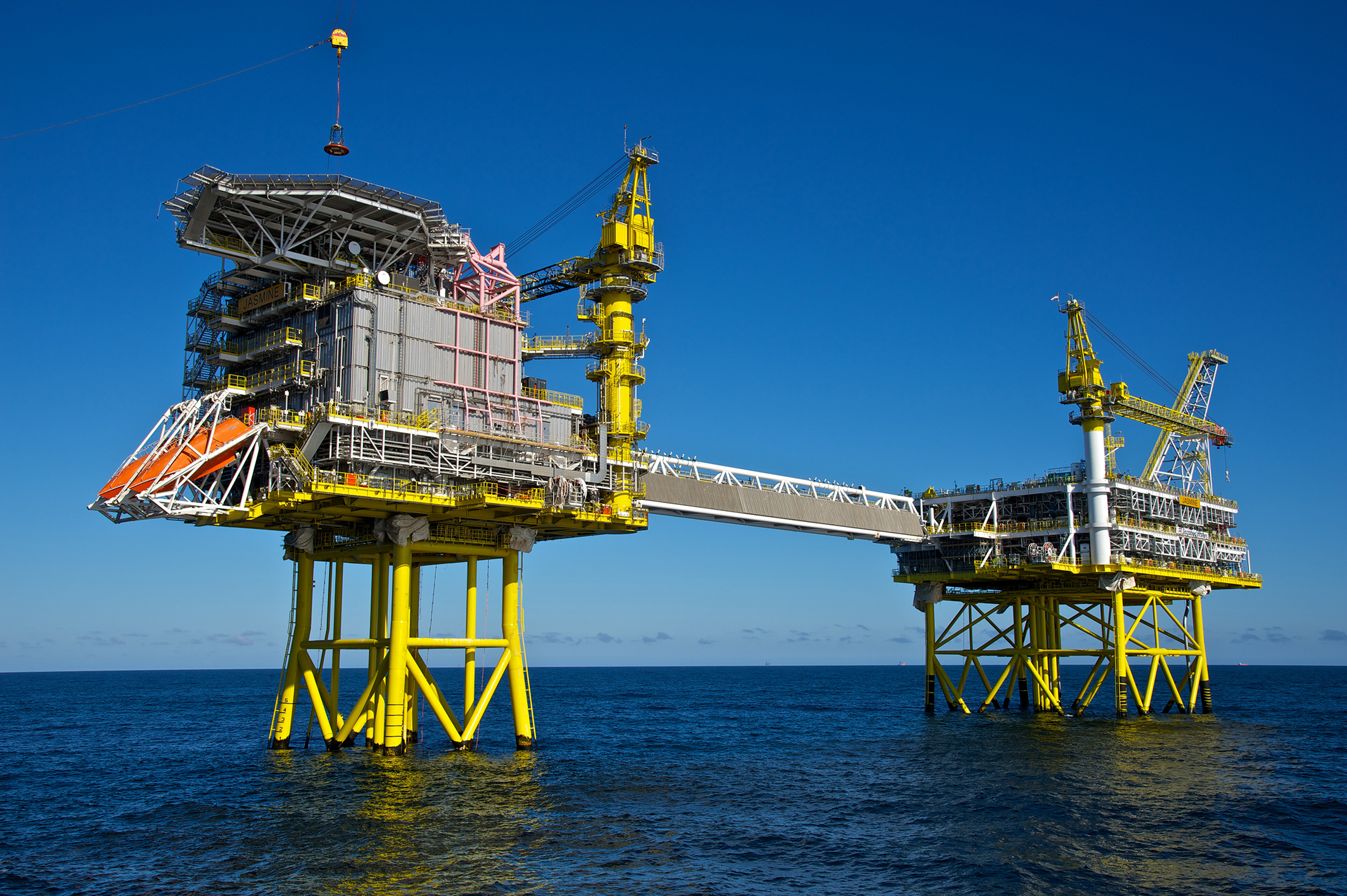 A file photo of a North Sea oil platform