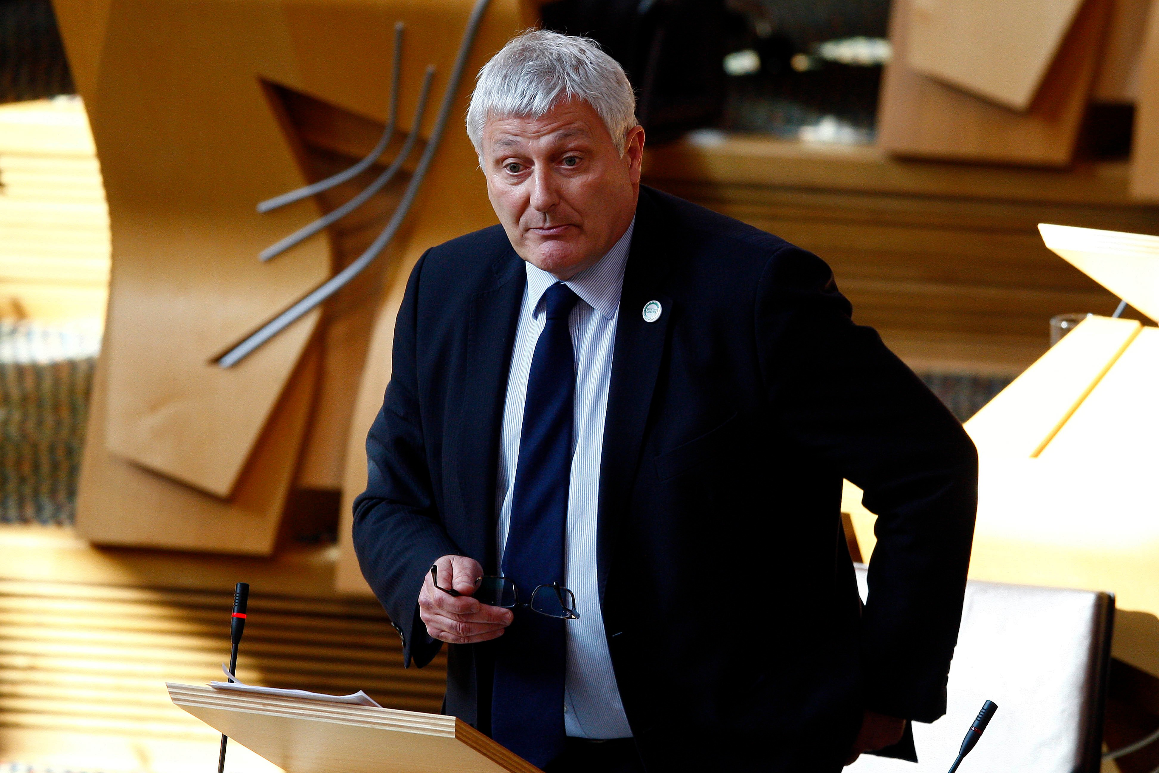 John Finnie MSP opens his debate on Ship-to-ship Oil Transfers in the Cromarty and Moray Firths 02 May 2017 . Pic - Andrew Cowan/Scottish Parliament