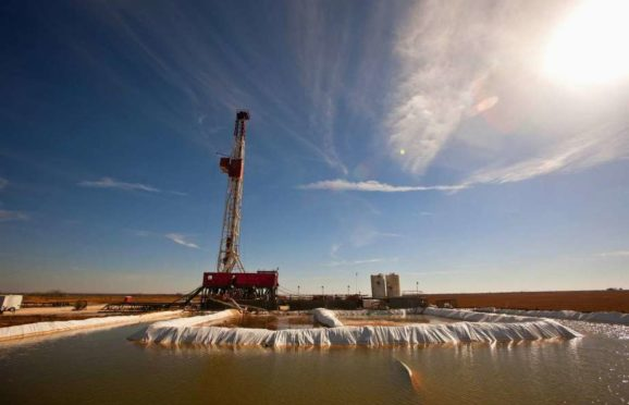 A water pool attached to Robinson Drilling rig No. 4 in Midland County, Texas.