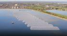 The eye-catching, 6.3-megawatt installation sits on the surface of the Queen Elizabeth II reservoir near Walton-on-Thames.
