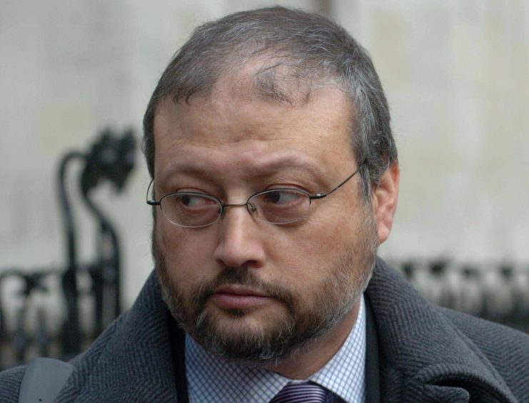 """File photo dated 06/12/04 of Jamal Khashoggi. Jeremy Hunt has been forced to clarify that he had """"no prior knowledge"""" of a plot to murder the journalist after media reports suggested the British intelligence services had been made aware - three weeks before the incident. PRESS ASSOCIATION Photo. Issue date: Tuesday October 30, 2018. See PA story COMMONS Saudi. Photo credit should read: Johnny Green/PA Wire"""