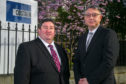 Sean Close, left, upstream director, and Steve Carter, project director, to Costain's Aberdeen office