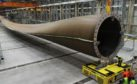 The world's first 107m turbine blade. Pic courtesy of LM Wind Power.