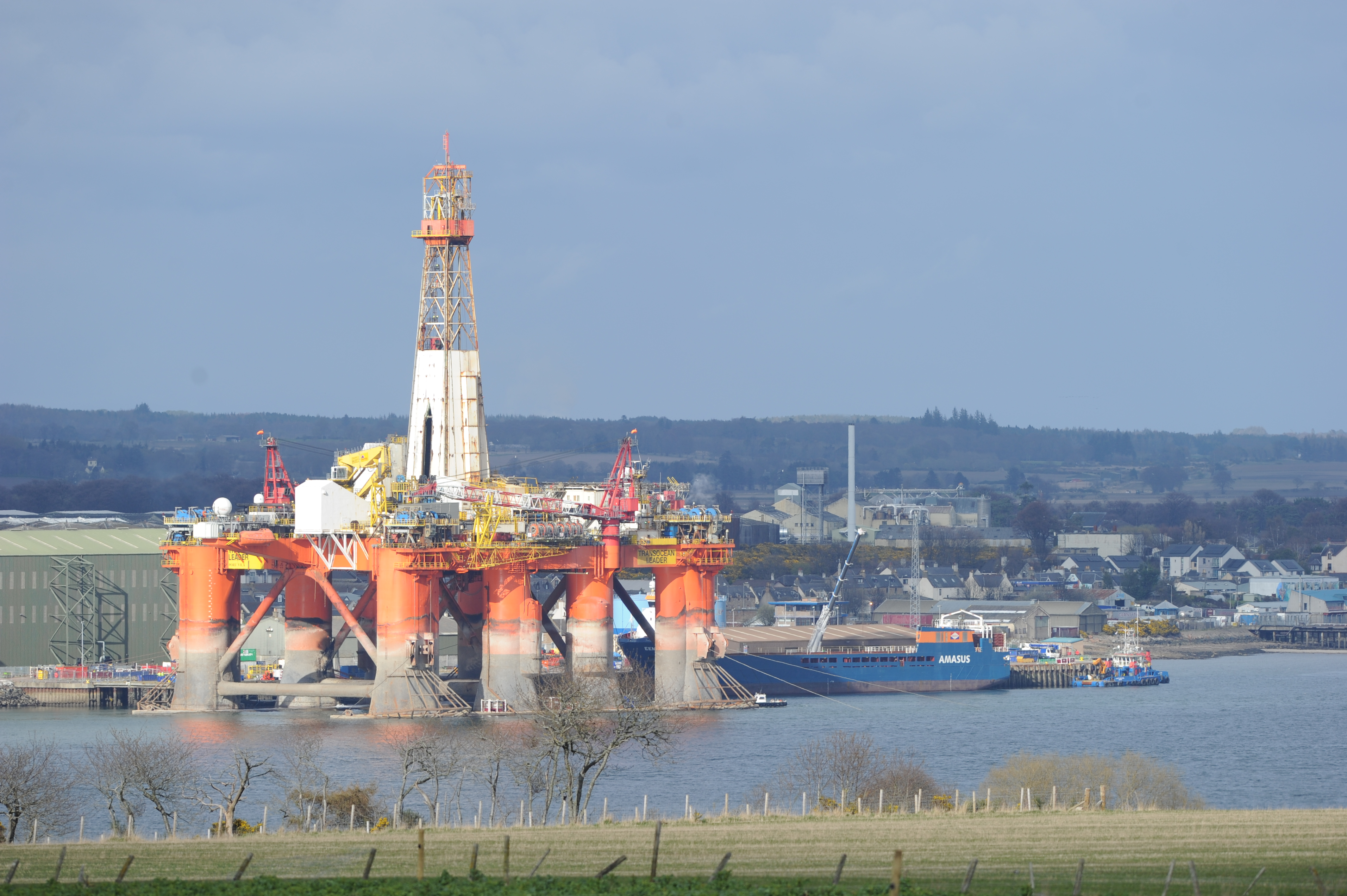 Global Energy Group's Nigg Energy Park facility at the entrance to the Cromarty Firth.