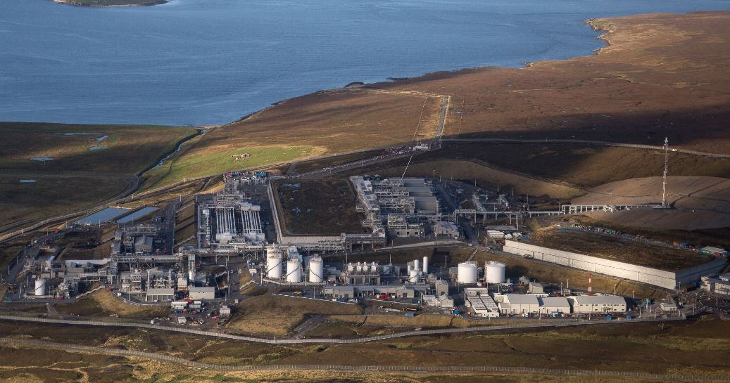 Gas from Total's Greater Laggan Area is exported to Shetland Gas Plant