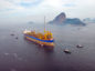 Exxon Mobil Corp., Royal Dutch Shell Plc and other energy giants are set to vie for deep-sea deposits that could hold 15 billion barrels of oil, almost twice as much as Norway's reserves.  Pic: A floating production vessel seen near Guanabara Bay, Rio de Janeiro, Brazil