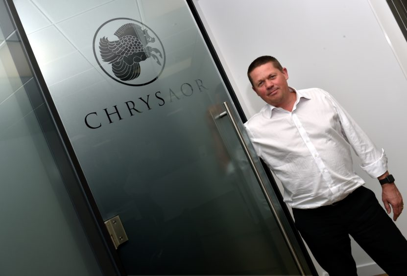 Chrysaor chief executive Phil Kirk pictured at his office at the Capitol Building in Union Street. Picture by Colin Rennie.