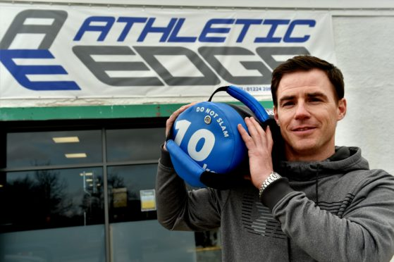 CR0008176 Athletic Edge, Springfield Road, Aberdeen. Scott Beattie at his new gym, Athletic Edge. Picture by COLIN RENNIE April 12, 2019.