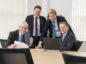 From left to right: Ian Sharp, chairman, Odd Magne Grøntved, finance director, Graeme Fergusson, managing director, and Ronald van Waaijen, commercial director.