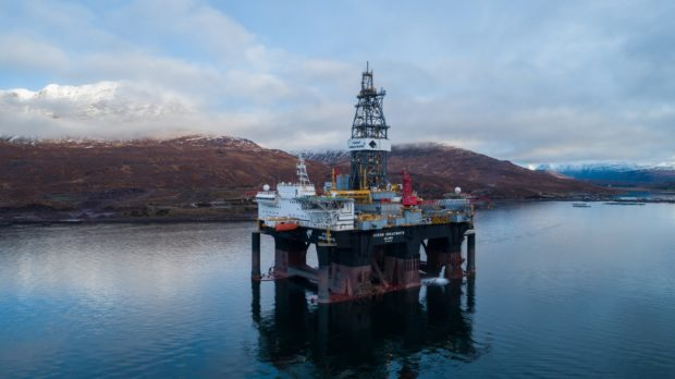 A file photo of Diamond Offshore's Ocean GreatWhite semi-submersible rig