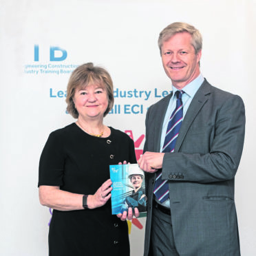 COMMITTED: ECITB chief executive Chris Claydon and ECITB chair Lynda Arstrong
