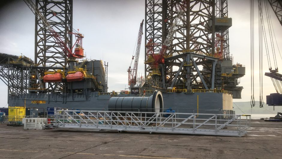 Texo Group worked on the ENSCO100 jack-up upgrade at the Port of Dundee.