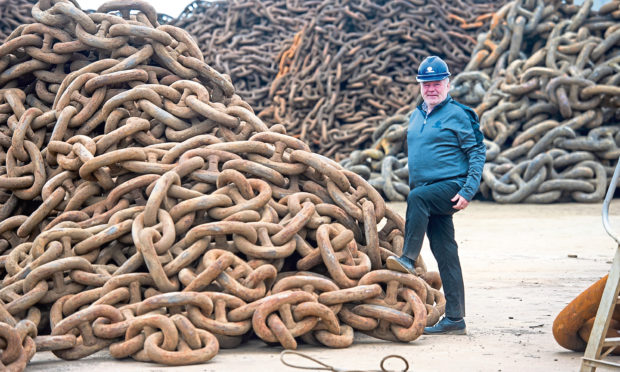 Alan Duncan, managing director of InterMoor at ChainCo's yard in Montrose.