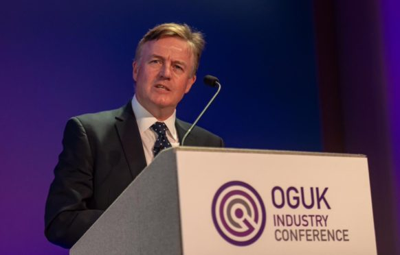 Gordon Ballard at the Oil and Gas UK conference.