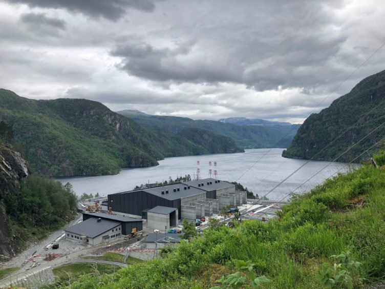 """A converter power station is being built to help transmit electricity from Norway's hydropower to the British grid, as water flowing from mountains to fjords in Norway will soon be helping power British homes, as the world's longest """"interconnector"""" hooks up the two countries' grids. PRESS ASSOCIATION Photo. Picture date: Friday June 21, 2019."""