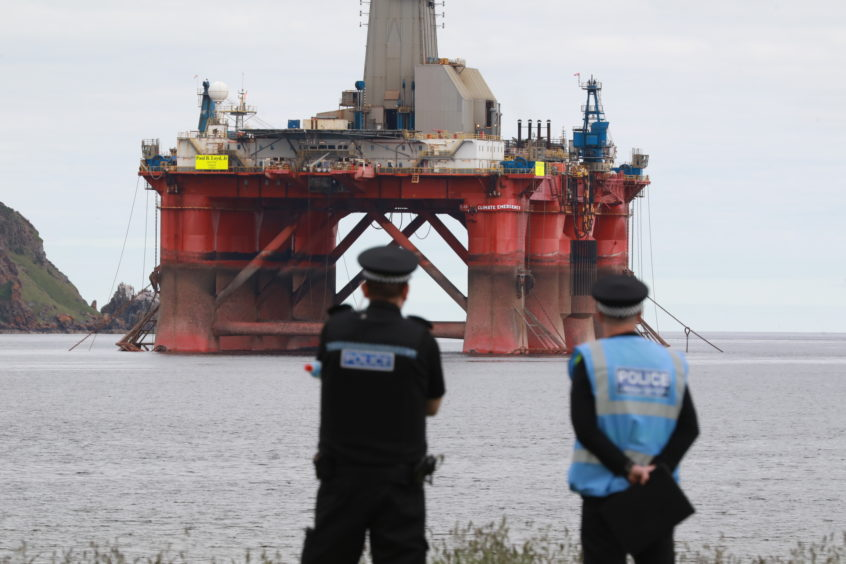 Police Scotland oil rig
