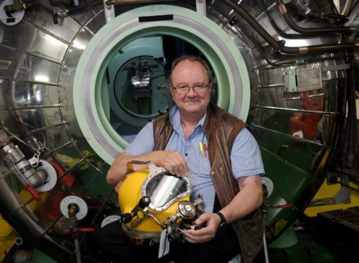 David Hutchinson, pictured onboard the Boko Da Vinci, is being made an OBE in the honours. CR0010293 07/06/19 Picture by KATH FLANNERY