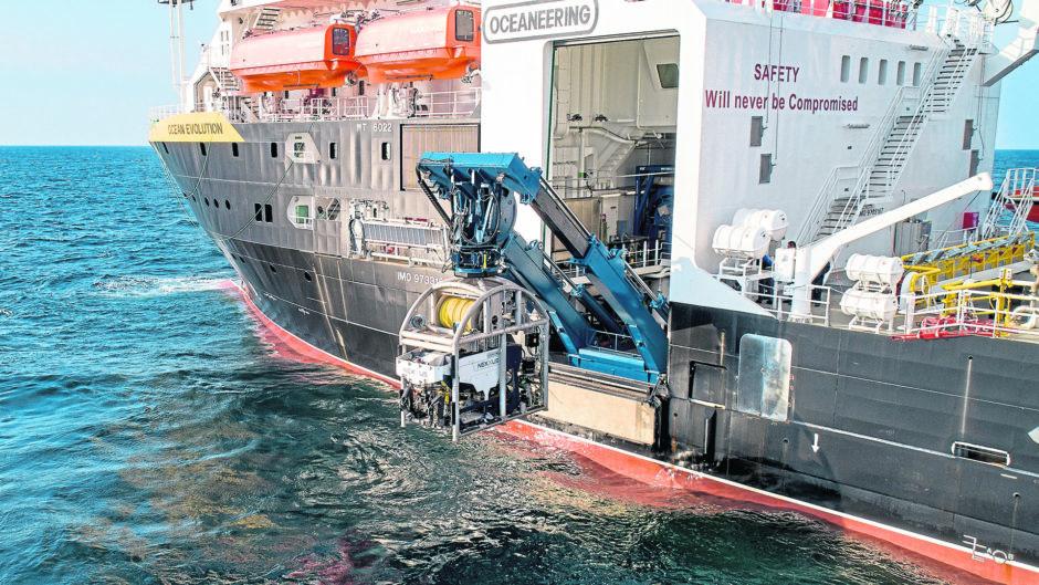 Oceaneering's Ocean Evolution vessel