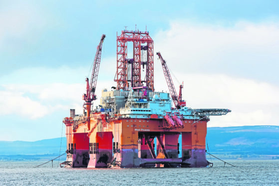 The Panama-registered West Phoenix platform in the Cromarty Firth