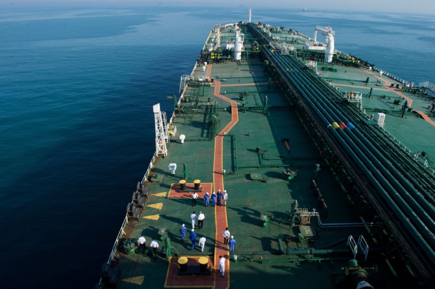 A view of Devon, an oil tanker headed to Kharq Island in order to transport oil from there to exporting markets.23 March 2018