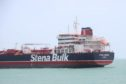BANDAR ABBAS, IRAN - JULY 20: The oil tanker, Stena Impero seized by Irans Revolutionary Guards is anchored at Bandar Abbas harbour on July 20, 2019 in Bandar Abbas, Iran. The Stena Impero was surrounded and seized by four vessels including a helicopter of the Iranian Revolutionary Guard on Friday in a key waterway in the Gulf before heading into Iranian waters. (Photo by Contributor/Getty Images)