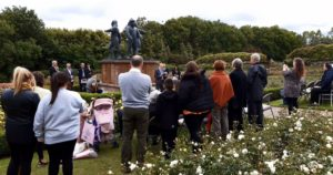 The remembrance service taking place at Hazlehead Park today.