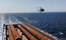 HM Coastguard visits Moray East vessel.