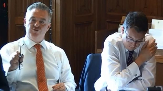 Colin Clarke MP at the Treasury energy transition meeting.