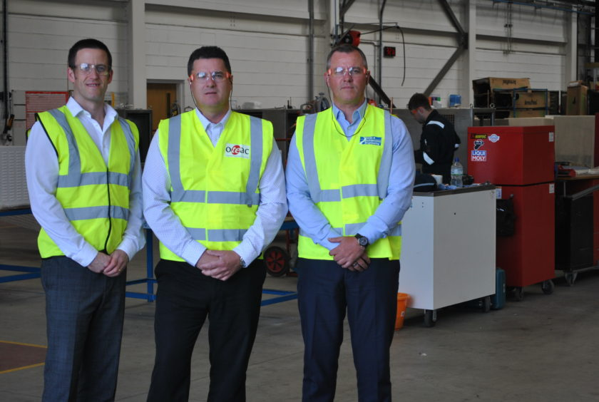 Photo caption (Left to Right): Mark Fraser – CEO, Mark Cowieson – Services Director, Oteac Ltd and Gareth Forbes - CFO