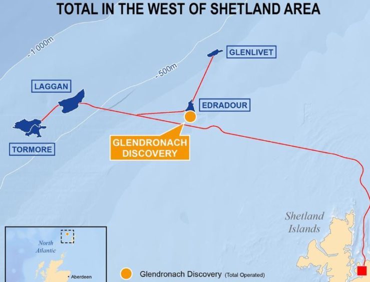 Total has started drilling an appraisal well to firm up estimates for its Glendronach discovery West of Shetland