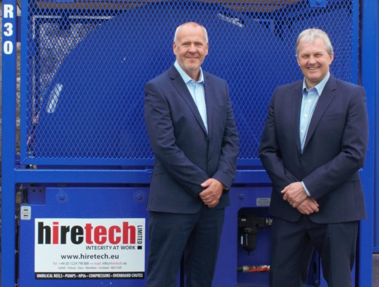 Hiretech managing director Keith Mackie (left) and chief executive Andy Buchan.