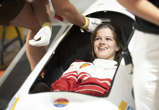 Behind the scenes during day one of Shell Make the Future Live 2019 at the Brooklands motor racing circuit, Weybridge, Surrey, UK. (Caitlin Mogridge/Shell)