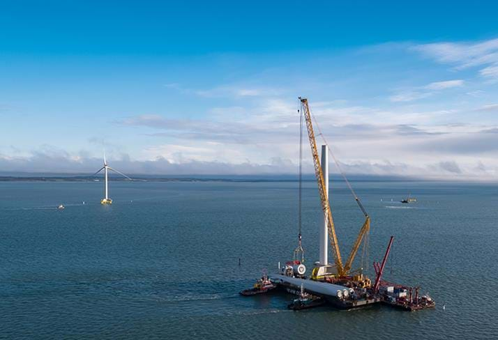 Mammoet installs four wind turbines off Danish coast