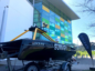 An unmanned surface vehicle at BP's Aberdeen HQ.