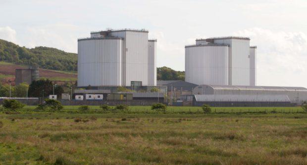 Hunterston B power station in Ayrshire.